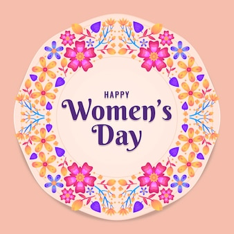 Colourful floral women's day