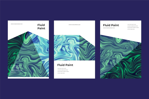 Colourful fluid effect poster template