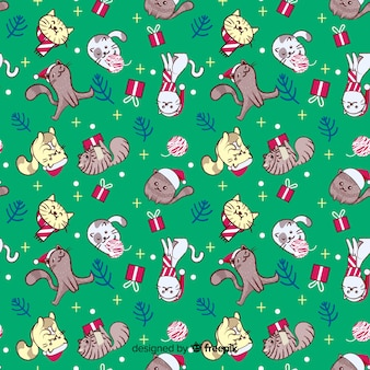 Colourful funny christmas pattern