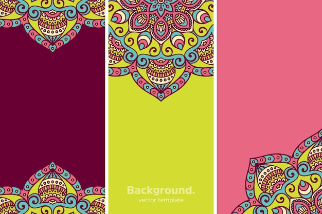 Colourful geometric floral background