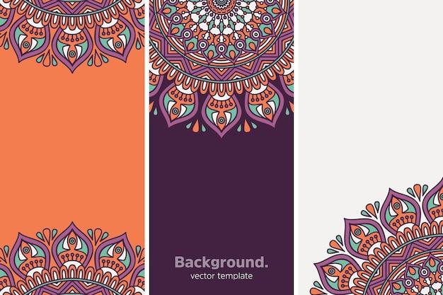 Sfondo floreale geometrico colorato