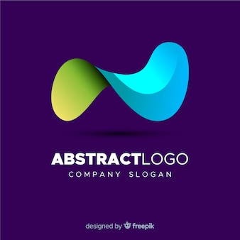 Colourful gradient abstract logo template