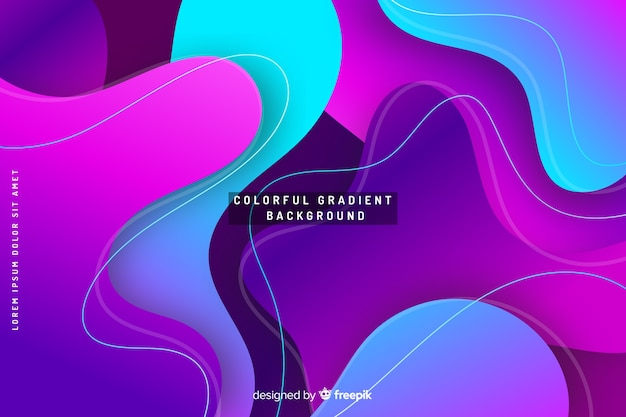 Colourful gradient background fluid effect