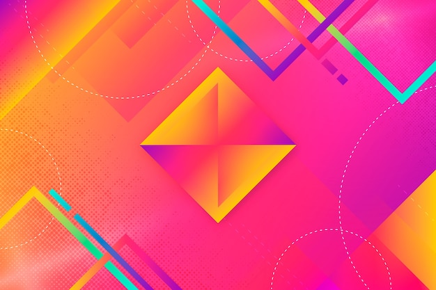 Colourful gradient background with squares