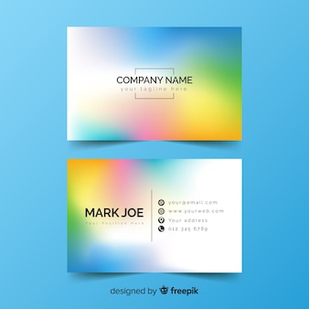Colourful gradient business card design