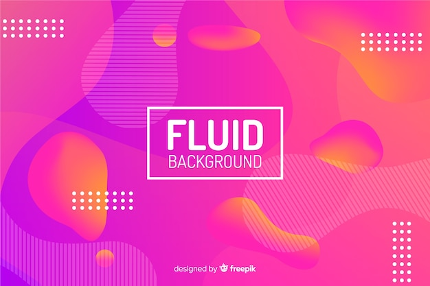 Colourful gradient fluid shapes background