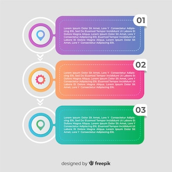 Colourful gradient infographic steps