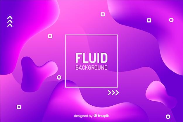 Colourful gradient liquid shapes background