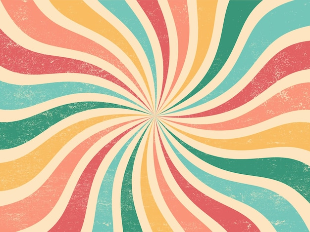 Colourful grunge retro burst summer and carnival background