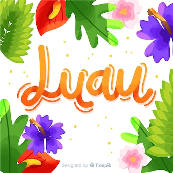 Colourful hawaiian luau background