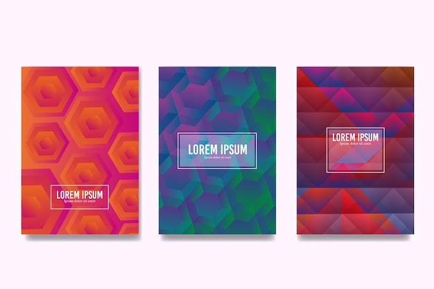 Colourful hexagonal and polygonal designs cover collection