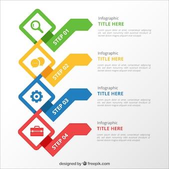 다채로운 infographic 단계