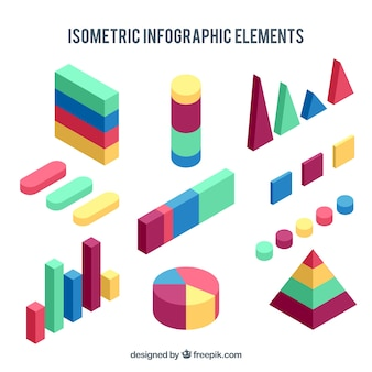 다채로운 isometriс infographic 요소