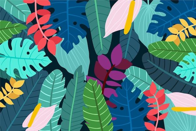 Sfondo di foglie colorate per la comunicazione video