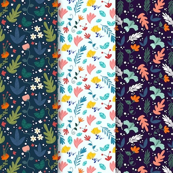 Colourful leaves spring seamless pattern