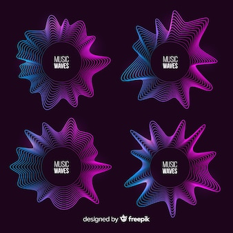 Colourful light waves pack