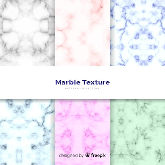 Colourful marble background collection