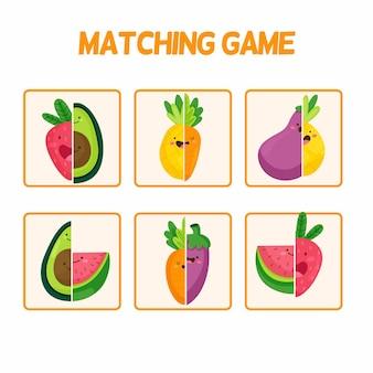 かわいい要素を持つカラフルなマッチゲーム