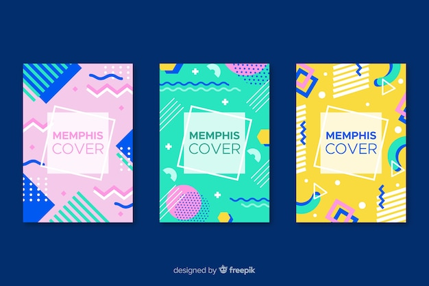 Colourful memphis cover collection