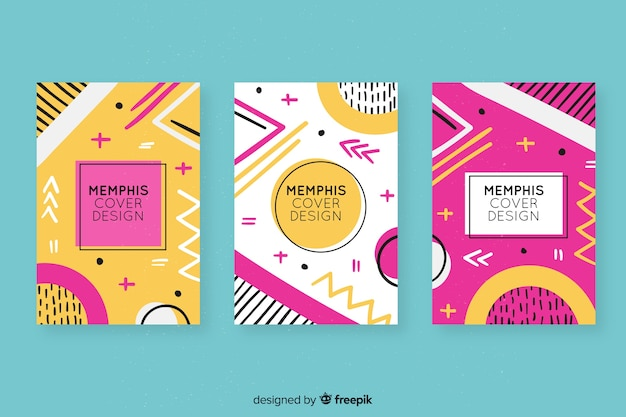 Colourful memphis covers collection