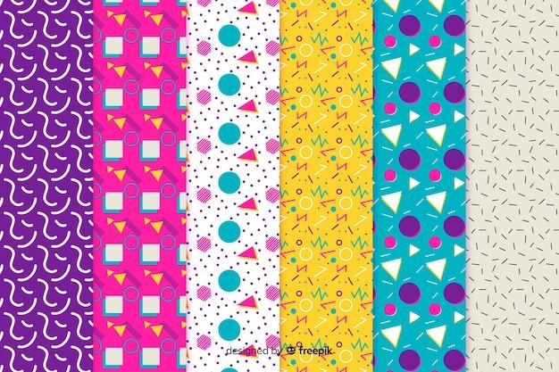 カラフルなメンフィスパターンコレクション