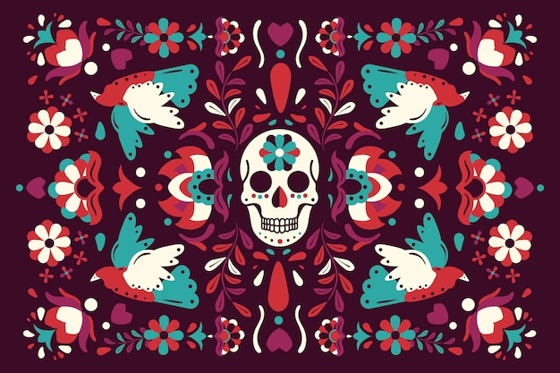 Colourful mexican background