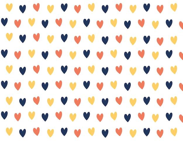 Colourful mini heart background.