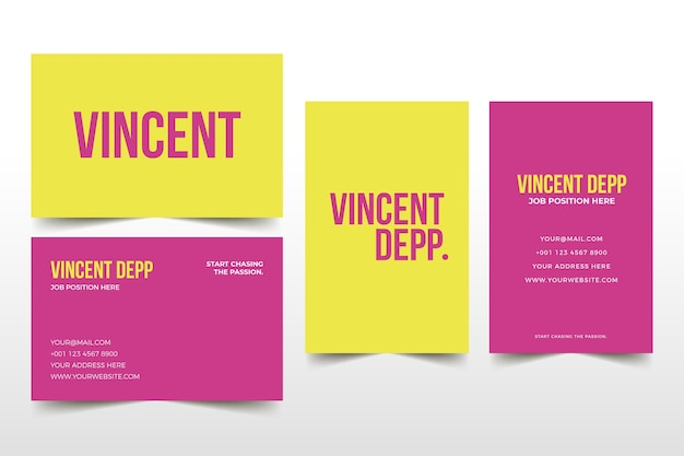 Colourful minimal business card template