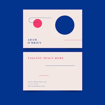 Colourful minimalist business card template