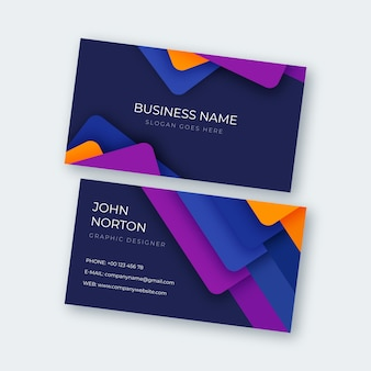 Colourful modern abstract business card template