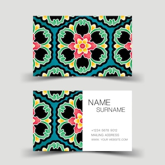 Colourful modern business card