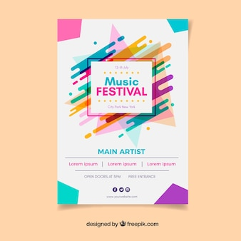 Colourful music festival poster