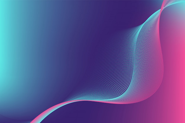 Colourful particle line wave abstract background modern design with copy space
