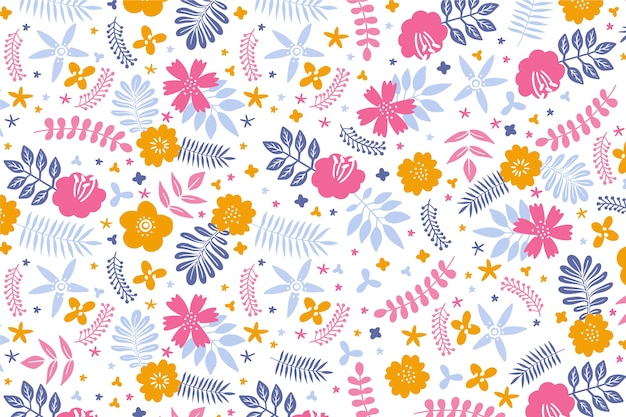 Colourful petals of flowers background