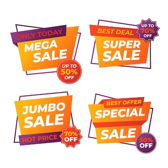 Colourful promotion sales banner