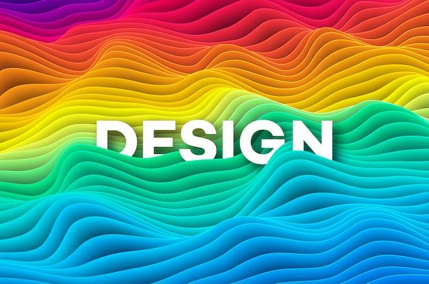 Colourful rainbow curve background.  illustration