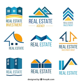 Colourful real estate logotypes