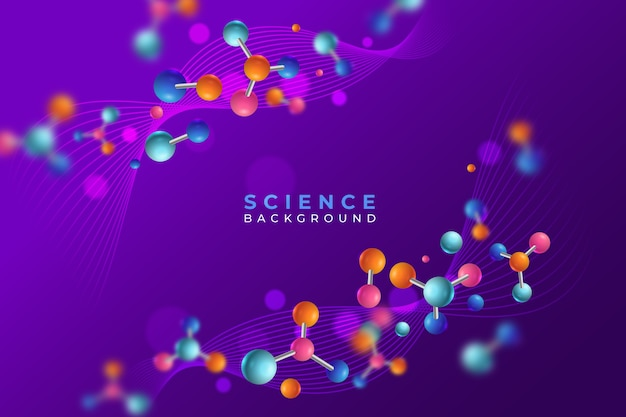 Colourful realistic science background