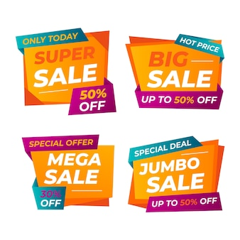 Colourful sale banner template design