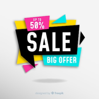 Colourful sales banner design