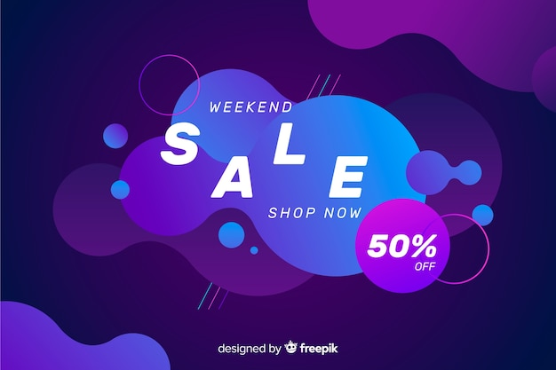 Colourful sales fluid effect background
