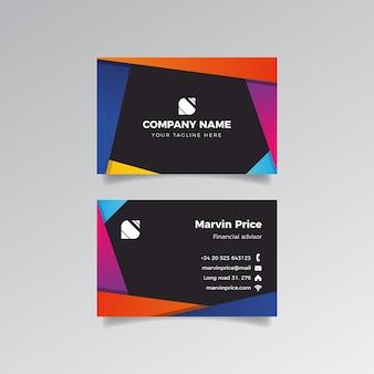 Дизайн красочных фигур для визитной карточки
