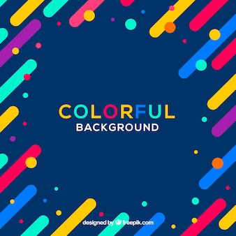 Colourful simple background with a frame