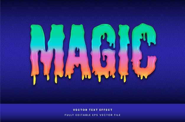 Colourful slime text effect