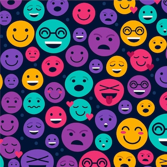 Colourful smile emoticons pattern