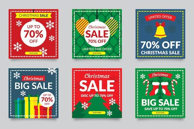 다채로운 소셜 미디어 포스트 판매 컬렉션
