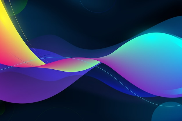 Colourful spiral lines wavy background