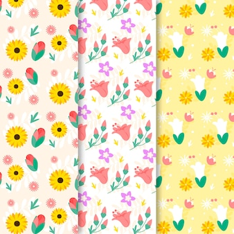Colourful spring pattern collection