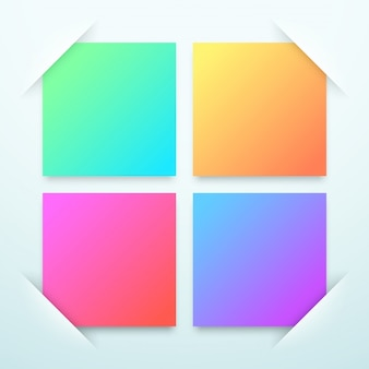 Colourful square blank text boxes template