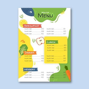 Красочное витражное меню ресторана